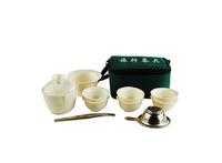 Портативный чайный набор из 9 предметов, фарфор