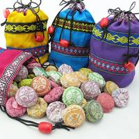 """Пуэр """"Тоу Ча"""" (более 10 ароматов (50 таблеток) + подарочный мешочек"""