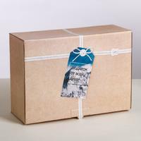 """Крафтовая подарочная коробка """"Подарок от всей души"""""""