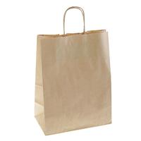 Пакет крафтовый без печати с ручками (большой)